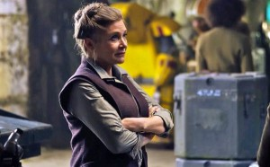 "Carrie Fisher as General Leia Organa in ""Star Wars: The Force Awakens"""