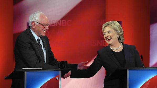 Bernie and Hillary in debate.