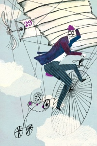 flying bicycle freelance-illustrator-Victoria-Semykina_Dreams-can-come-true_personal-work