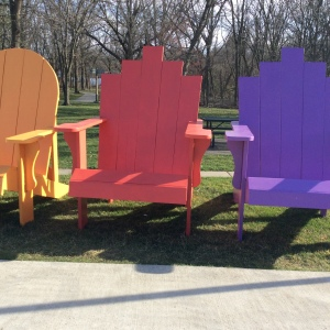 Giant Adirondack chairs: not ideal!