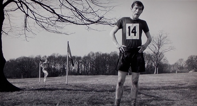"Colin (Tom Courtenay) stops running in ""The Loneliness of the Long-Distance Runner."""