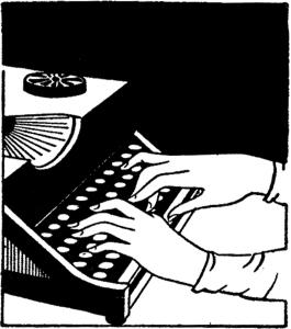 Vintage typing image.