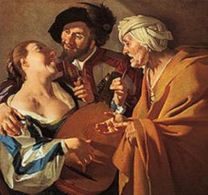 """VAN BABUREN's """"THE PROCURESS,"""" 1622"""