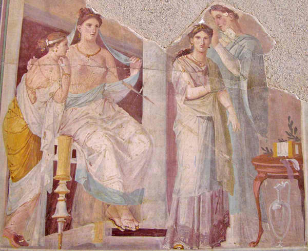 ainted fresco panel from Herculaneum, Italy. 1st c AD. Naples, National Archaeological Museum.
