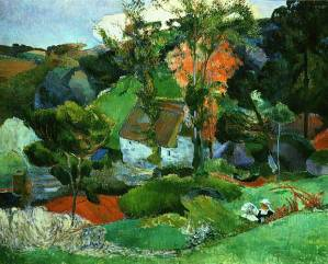 A landscape by Gauguin.