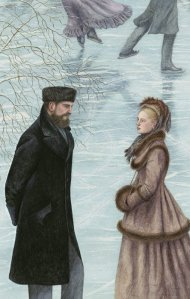 An illustration from the Folio Society edition of Anna Karenina