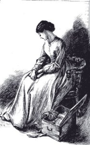 Florence grieving and preparing a packet of letters to return to Harry.