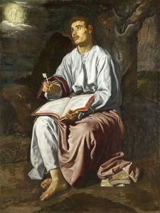 Saint John the Evangelist on the Island of Patmos by Diego Velasquez
