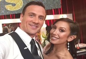 Ryan Lochte and Cheryl Burke on Dancing with the Stars.