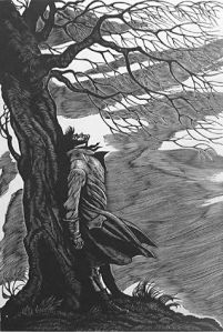 Fritz Eichenberg's illustration of Heathcliff.