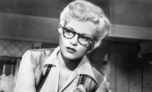 "Judy Holliday in ""Born Yesterday"" needs serious glasses!"