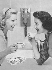 women-gossip-black-and-white-coffee-gossip-kitsch-favim-com-2658218