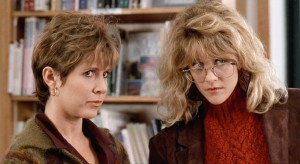 "Carrie Fisher and Meg Ryan in ""When Harry Met Sally"""