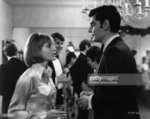 "Tina (Carrie Snodgrass) at party with her husband (Richard Benjamin) in ""Diary of a Mad Housewife"""