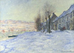 """Lavacourt under Snow,"" Claude Monet"