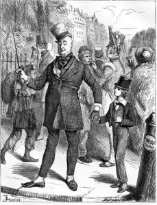 David Copperfield and Mr. Mawber (illustration by Fred Barnard)