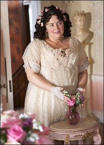 "Ruth Jones as Flora Finching in ""Little Dorrit"""